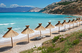 Beach Opatija Kvarner bay Croatia beach photo