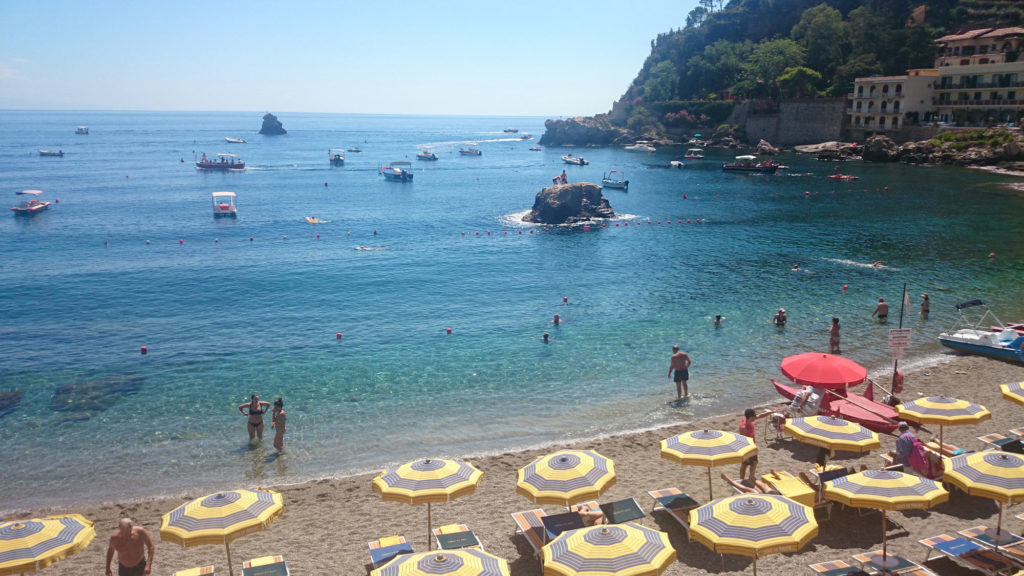 Mazzaro Taormina beach