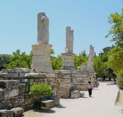 The entrance to the Odeon of Agrippa