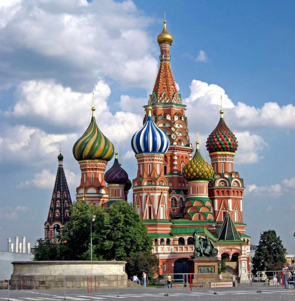 St. Basil's Cathedral in Red Square - Moscow