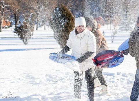 Отдых в горах рРоссии зимой. Отель Адиюх-Пэлас. Хабез, Карачаево-Черкесия.