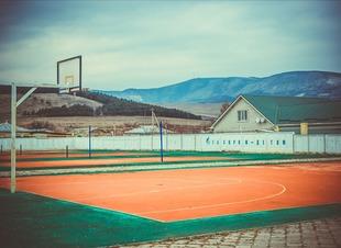 Баскетбол. Отель Адиюх-Пэлас. Хабез, Карачаево-Черкесия.