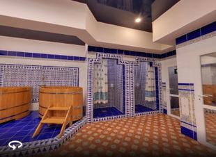 Купель с ледяной водой в горах Архыза. Отель Адиюх-Пэлас. Хабез. Карачаево-Черкессия.
